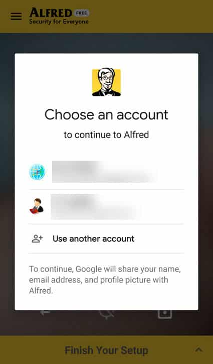 Alfred Home Security Camera Google Account - Tamil